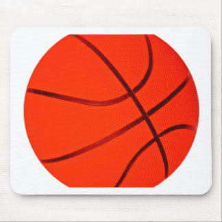 Bright Reddish Basketball Mouse Pad