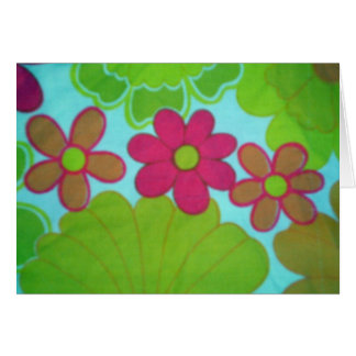 Bright Retro 70's Flower's Stationery Note Card