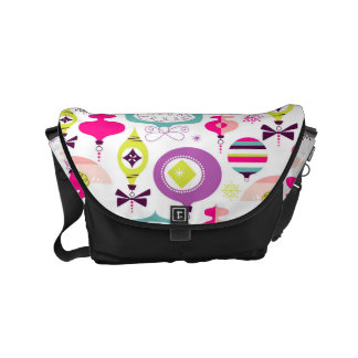 Bright Retro Christmas Ornaments Commuter Bag