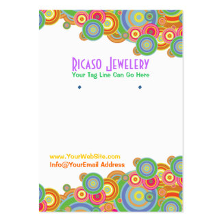 Bright Retro Circles Earring Background Pack Of Chubby Business Cards