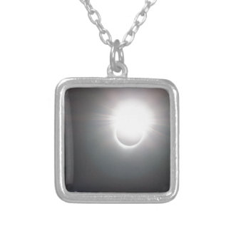 Bright Ring Silver Plated Necklace