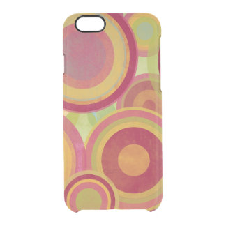 Bright rings of textured color clear iPhone 6/6S case