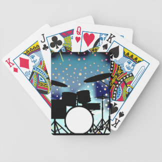Bright Rock Band Stage Bicycle Playing Cards