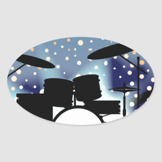 Bright Rock Band Stage Oval Sticker
