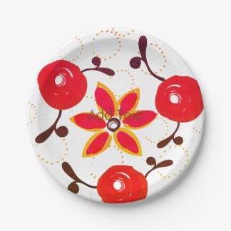 Bright Rose Garden Party Plates