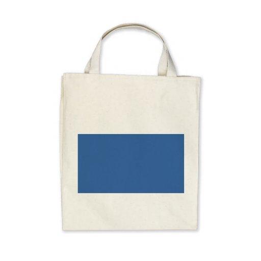 Bright royal blue tote bag