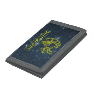 Bright Sagittarius Trifold Wallet