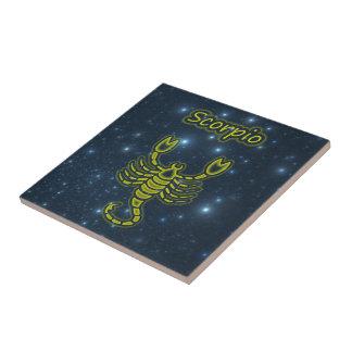 Bright Scorpio Ceramic Tile