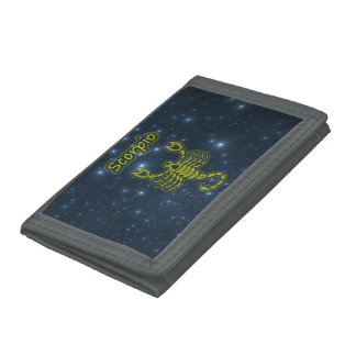 Bright Scorpio Trifold Wallets