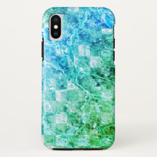 Bright Sea Blue Green Modern Marble iPhone X Case