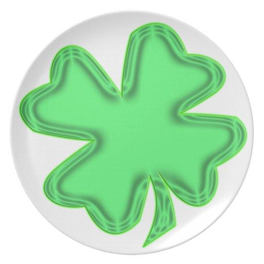 bright shamrock plate