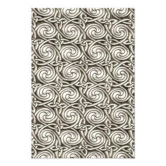 Bright Shiny Silver Celtic Spiral Knots Pattern Art Photo