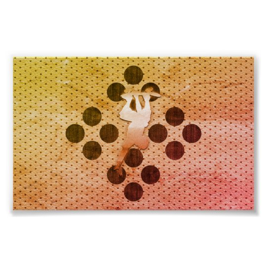 Bright Skater Sport Collage Poster