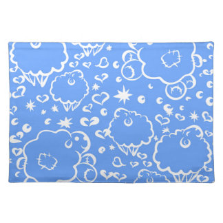 Bright sky sheep dream placemat