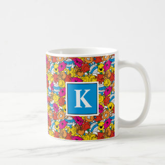 Bright Smiling Faces | Monogram Coffee Mug