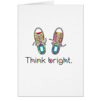 Bright Sneaks Greeting Card