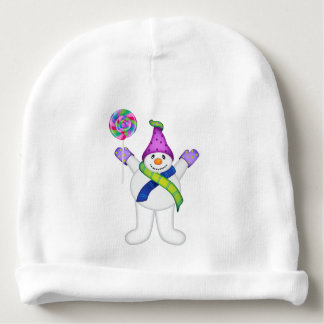 Bright Snowmen LET IT SNOW! Baby Beanie