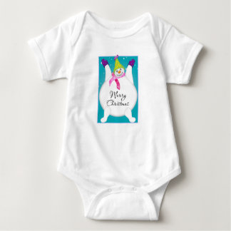 Bright Snowmen LET IT SNOW! Baby Bodysuit