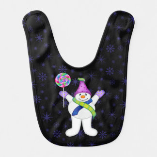 Bright Snowmen LET IT SNOW! Bib