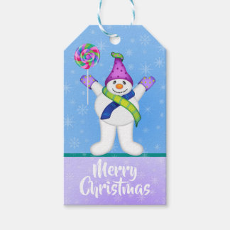 Bright Snowmen LET IT SNOW! Gift Tags