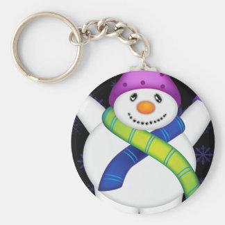 Bright Snowmen LET IT SNOW! Key Ring