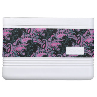 Bright sophisticated paisley floral pattern cooler