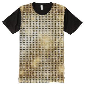 Bright sparkling golden sequin glitters disco ball All-Over print T-Shirt