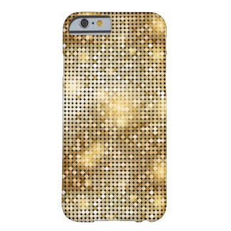 Bright sparkling golden sequin glitters disco ball barely there iPhone 6 case