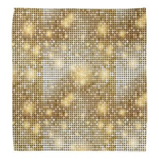 Bright sparkling golden sequin glitters disco ball head kerchief