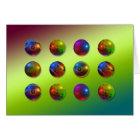Bright Spheres Card
