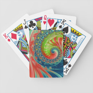 Bright Spiral Bicycle Playing Cards