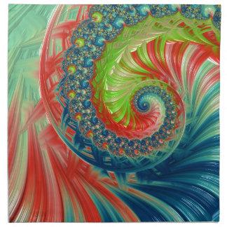 Bright Spiral Cloth Napkins