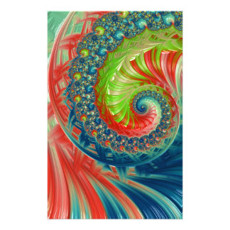 Bright Spiral Stationery Design