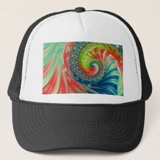 Bright Spiral Trucker Hat