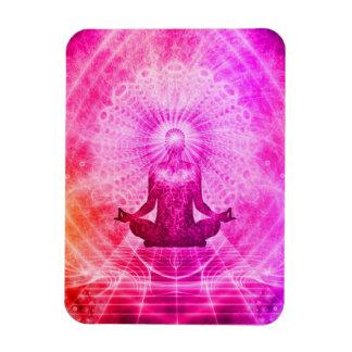 Bright Spiritual Yoga Lotus Pose Rectangular Photo Magnet