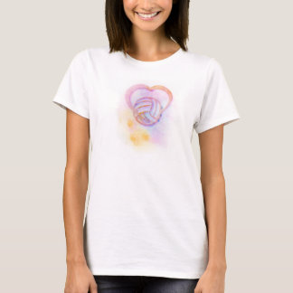 Bright Splatter Volleyball Heart Women's T-shirt