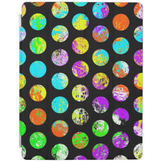 Bright Spots On Black Pattern iPad Cover