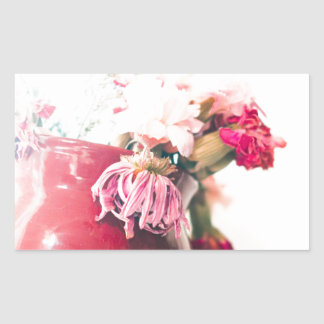 Bright Spring Blooming Flowers Rectangular Sticker