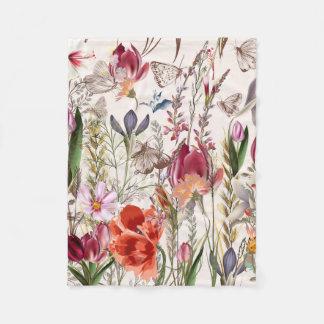 Bright spring field. Romantic pattern Fleece Blanket