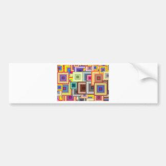 Bright Squares Bumper Sticker