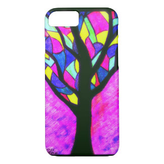 Bright Stained Glass Tree design iPhone 8/7 Case