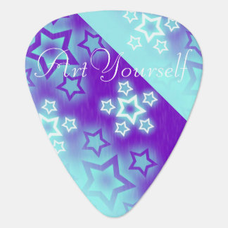 Bright Stars Two Sided Design Guitar Pick