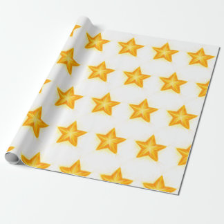 bright stars wrapping paper gift wrap