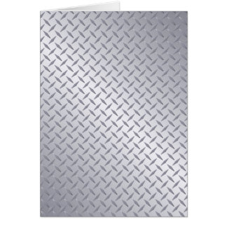 Bright Steel Diamond Plate Background Card