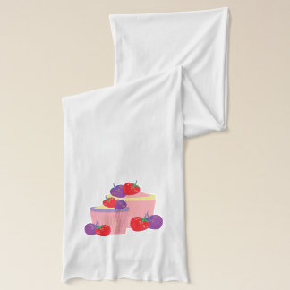 Bright Strawberries And Cupcakes Art Scarf