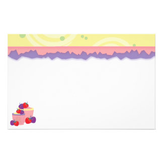 Bright Strawberries And Cupcakes Art Stationery