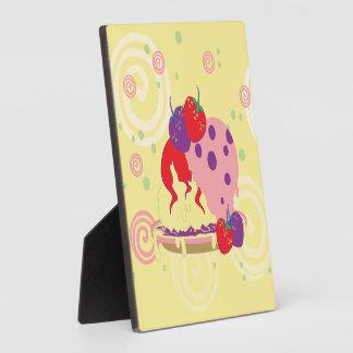 Bright Strawberries And Ice Cream Art Plaque