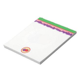 Bright Strawberry Cream Pie Art Notepad
