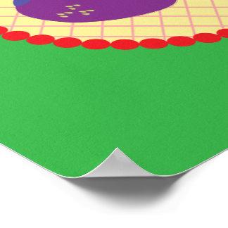 Bright Strawberry Cream Pie Art Poster