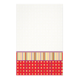 Bright Strawberry Seeds Pattern With Border Stationery